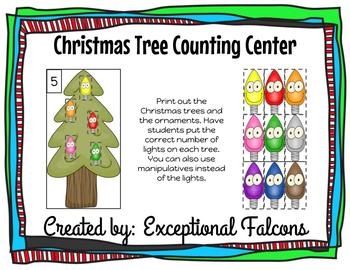 Christmas Tree Decorating Counting Center