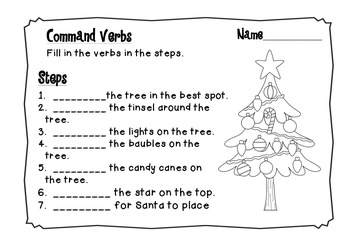 Christmas Tree - Decorating Procedure and Activities