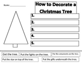 Christmas Tree Decorating Sequencing