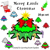 Free! Christmas Tree & Decorations Clip Art (20 pieces)