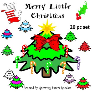 Christmas Tree & Decorations  Clip Art