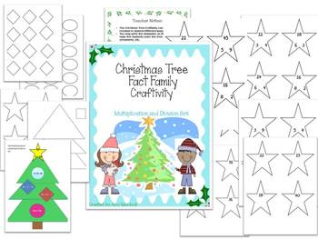 Christmas Tree Differentiated Fact Families Craftivity