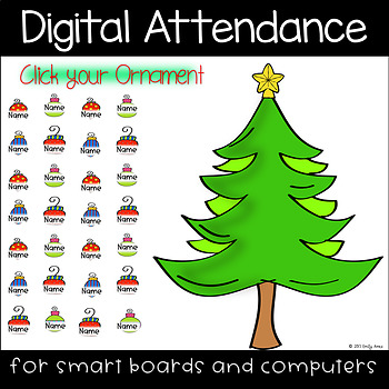 Christmas Tree Digital Attendance (Smart Boards and Computers)