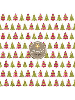Christmas Tree Digital Papers, Christmas Papers, Holiday Papers