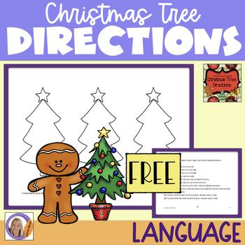 Freebie! Christmas Tree Directions