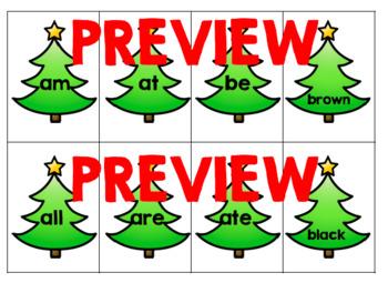Christmas Tree Dolch Pre-Primer & Primer Sight Word Flashcards BUNDLE!