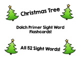 Christmas Tree Dolch Primer Sight Word Flashcards