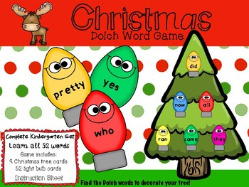 Christmas Tree Dolch Words