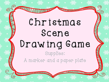 Christmas Tree Drawing Game