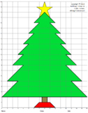 Christmas Tree, Coordinate Drawing & Graphing, Mystery Picture