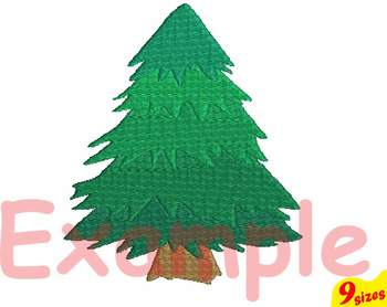 Christmas Tree Embroidery Design 4x4 5x7 hoop santa decoration light 119b