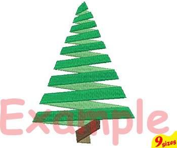 Christmas Tree Embroidery Design 4x4 5x7 hoop santa decoration light 124b