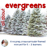Christmas Tree Evergreens NO PREP Mini Unit