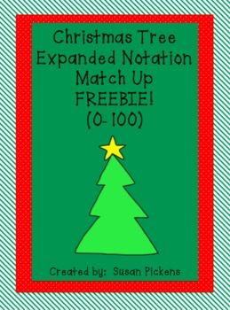 Christmas Tree Expanded Notation 0-100 FREEBIE
