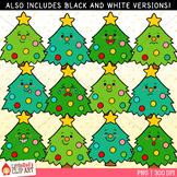 Christmas Tree Faces Christmas Clip Art