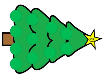 Christmas Tree Fact Families - Adding numbers to 10