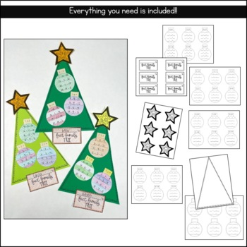 Christmas Tree Fact Family Craftivity
