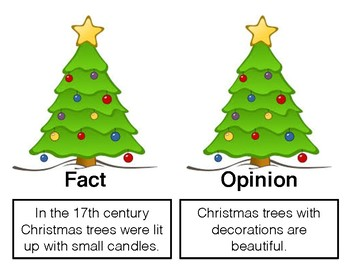 Christmas Tree Fact and Opinion