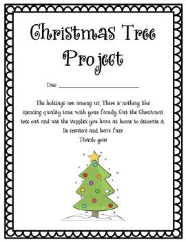 Christmas Tree Family Project Freebie