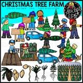 Christmas Tree Farm Clip Art Set {Educlips Clipart}
