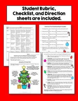 Christmas Tree Fiction Craftivity Book Report Project - Use With Any Book