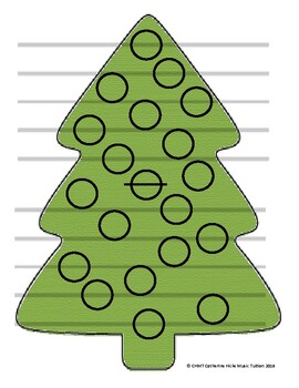 Christmas Tree Find-The-Note Game