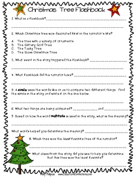 Christmas Reading Comprehension Passage and Questions: Flashback Reading Passage
