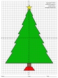 Christmas Tree (Four Quadrants), Coordinate Drawing & Graphing, Mystery Picture