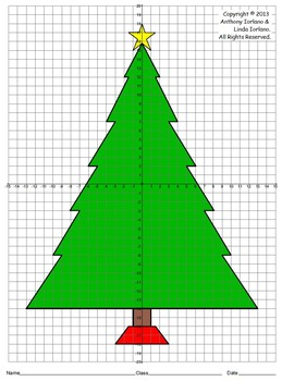 Christmas Math Coordinate Graphing Pictures - Santa, Elf ...