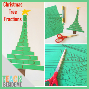 Christmas Tree Fraction Strips