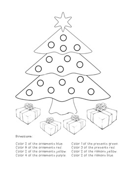 christmas tree fractions by the busy class teachers pay teachers. Black Bedroom Furniture Sets. Home Design Ideas