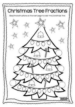 Christmas Tree Fractions FREEBIE by Michelle Walker  TpT