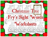Christmas Tree Fry's Sight Words Worksheets - Level 1-3 a-d