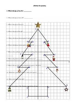Christmas Tree Geometry Review By Catherine Polglaze Tpt