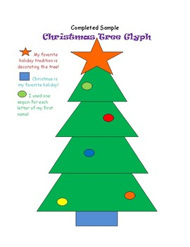 Christmas Tree Glyph by Get A Kick Out Of Teaching | TpT