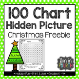 Hidden Picture 100s Chart: Christmas Tree Freebie