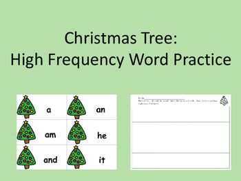 Christmas Tree: High Frequency Words