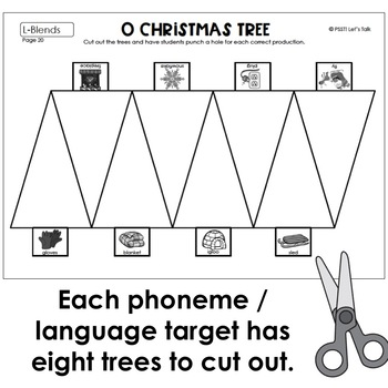 Christmas Tree Hole Punch for Speech/Language | TpT