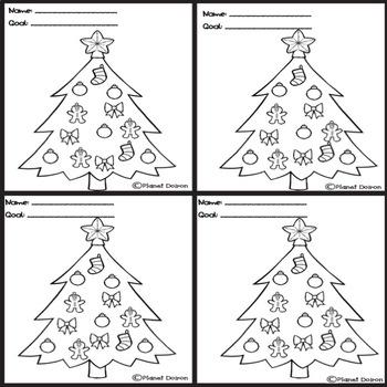 Christmas Tree Holiday Behavior Chart Behavior Management