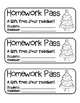 """Christmas Tree"" Homework Pass –Holiday FUN! (full color & black line version)"