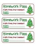 """Christmas Tree"" Homework Pass –Holiday FUN! (full color version)"
