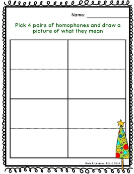 Christmas Tree Homophones