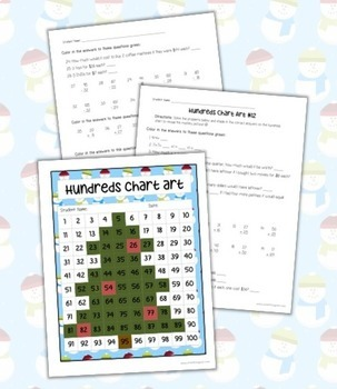 Hundreds Chart Art: Christmas Tree (Mystery Picture) by ...