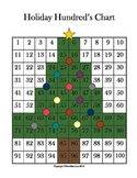 Christmas Tree Hundred's Chart Number Identification Activity