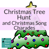 Christmas Tree Hunt and Christmas Music Charades