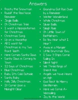 Christmas Tree Hunt and Christmas Music Charades