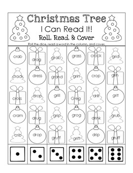 Christmas Tree I Can Read It! Roll, Read, and Cover