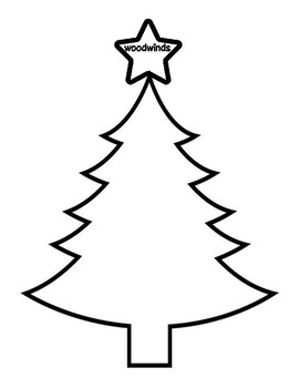 Christmas Tree Instrument Family Sort