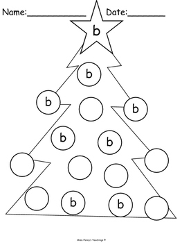 Christmas Tree Letter Formation Practice (Pushpin and Write)