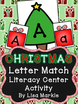 Christmas Tree Letter Match Literacy Center Activity for P
